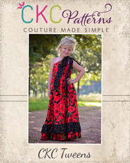Aria's Tween One Shoulder Top, Dress, and Maxi PDF Pattern