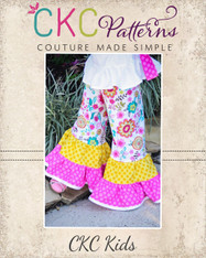 Brianna's Tiered Ruffle Pants and Capris PDF Pattern