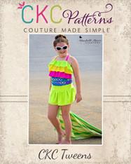 Pearl's Tween One-Piece Swimsuit PDF Pattern