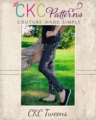 Priscilla's Tween Ruched or Cuffed Leggings PDF Pattern