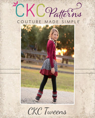 Quinn's Tween Knit Skirted Leggings PDF Pattern