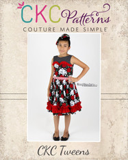 Celeste's Tween Classic Boat Neck Dress and Top PDF Pattern