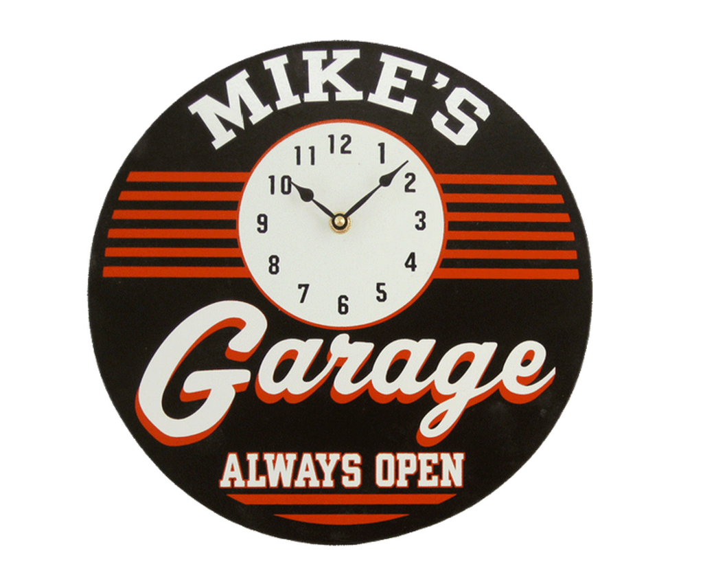 Personalized Garage Clock by THOUSAND OAKS BARREL CO.