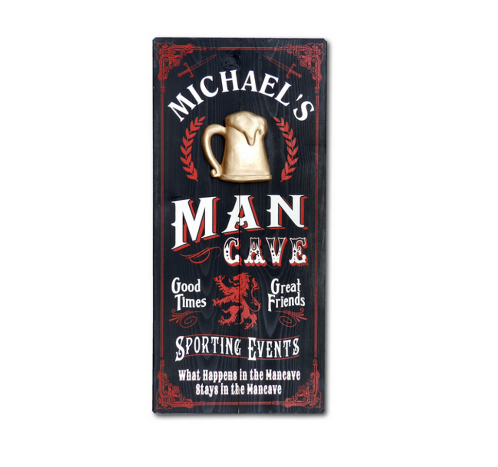 Personalized Vintage Man Cave Sign by THOUSAND OAKS BARREL CO.