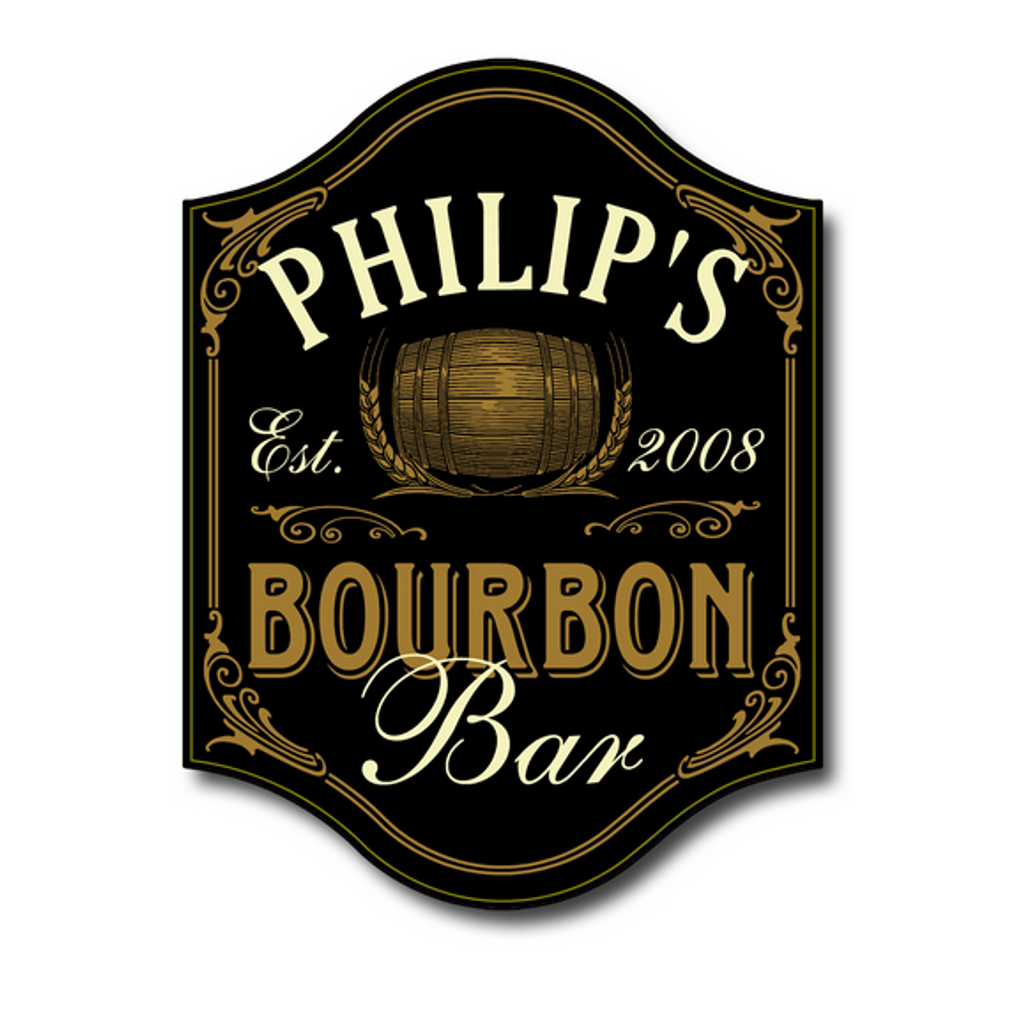 Personalized Bourbon Bar Sign by THOUSAND OAKS BARREL CO.