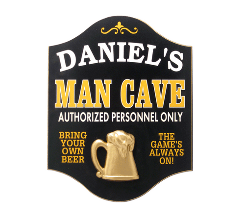 Personalized Man Cave Wooden Sign by THOUSAND OAKS BARREL CO.