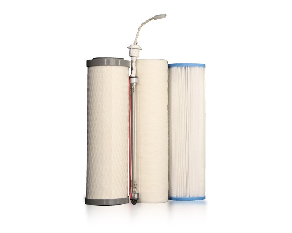 Complete Filter Set: UU350 4-Pin UV (Red Stripe Cord) | Three-Stage Under Counter w/ UV