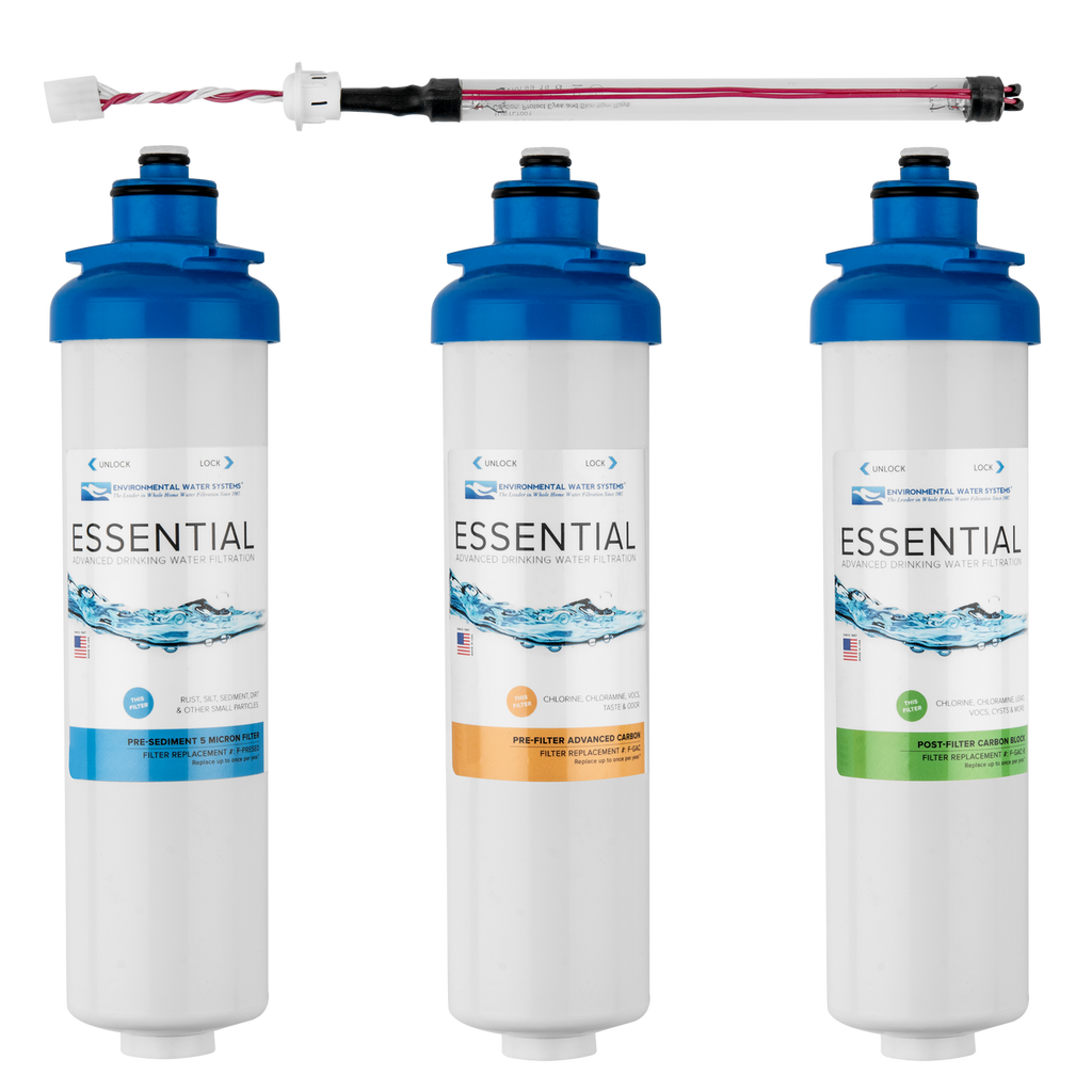 Complete Filter Set for ESSENTIAL Drinking Water System with UV (Filter Set #: F.SET DWS-UV)