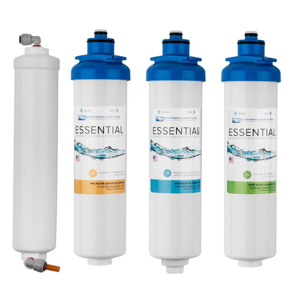 Complete Filter Set for ESSENTIAL 4-Stage Reverse Osmosis System (Filter Set #: F.SET.RO4)
