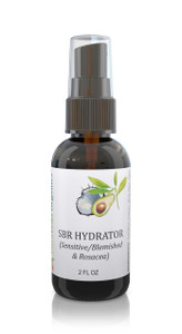 100% organic Ayurvedic Hydrator / Toner for Sensitive, Blemished and Rosacea Skin types.  Works synergystically with our SBR cleanser and Serum to help calm redness and irritation in a hurry.  Packed with anti-oxidants and free radical scavenger botanical extracts and essential oils, this hydrator is a miracle worker!  View 1