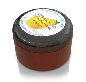 Normal Formula Exfoliating Mask & Scrub.  Identical to our SBR Mask, but has micronized walnut shell so that it can be used as a scrub in addition to an enzymatic papaya and honey peel/exfoliator.  100% organic or sustainably wild-crafted ingredients with zero fillers, toxins, synthetic chemical or preservatives.  Doesn't your skin deserve high-quality products that really work?  An indispensable part of a an effective skin care regimen.  View 1