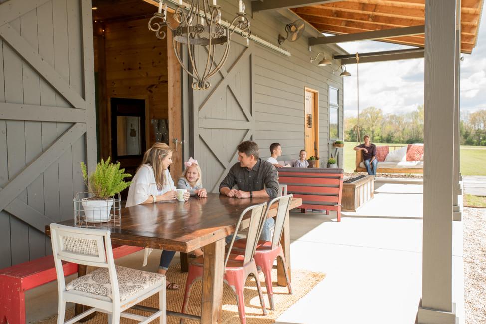 Family makes a barn house their home