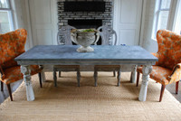 Farm Table with Architectural Salvaged Legs