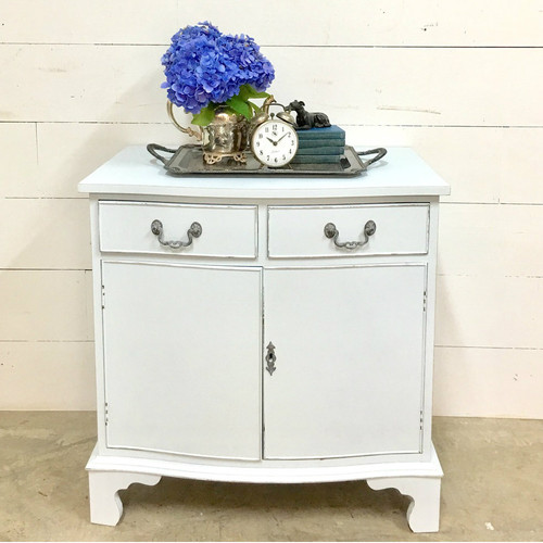 "Accent Cabinet with ""slightly blue"" custom finish"