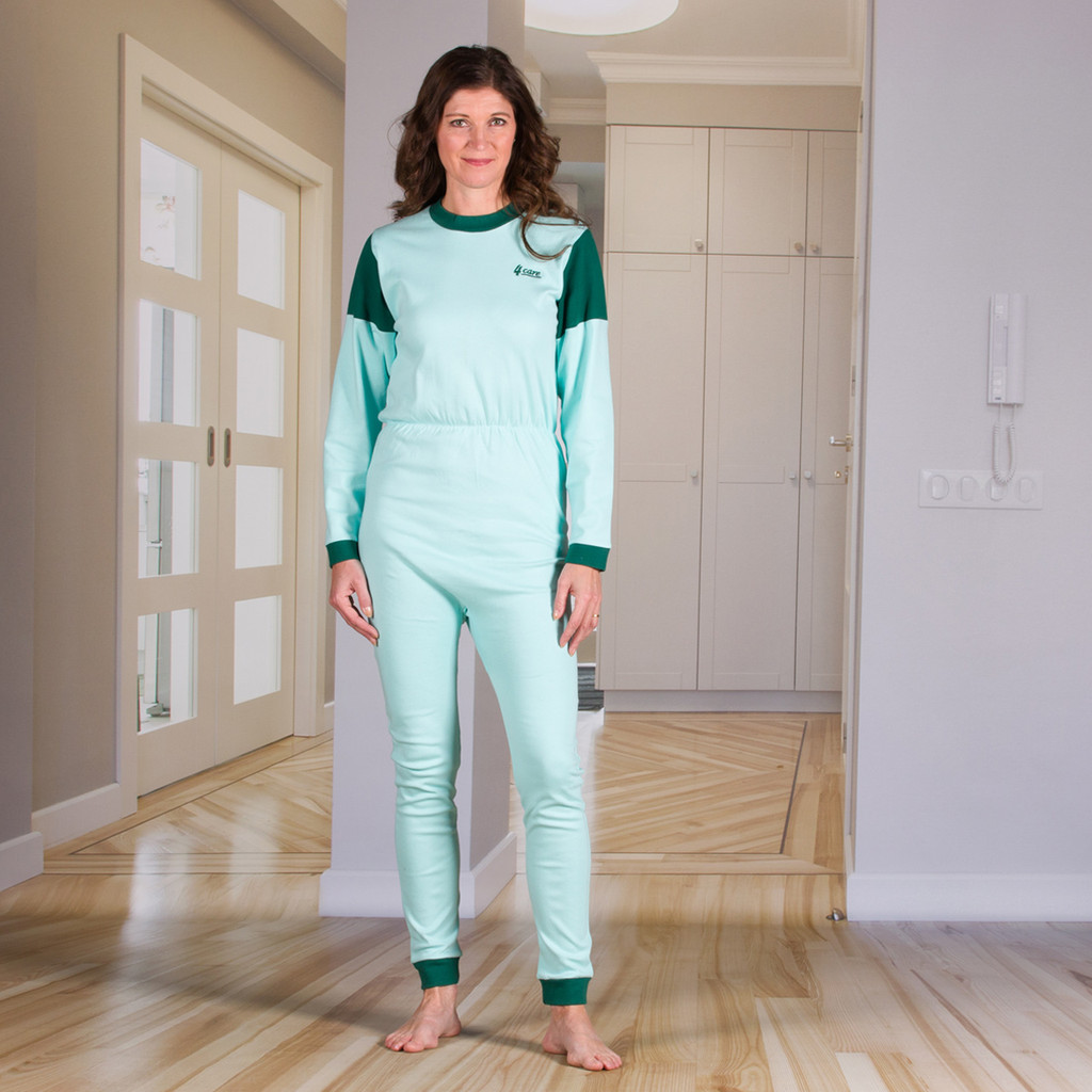 Unisex Jumpsuit with a Zipper-Back, Long Legs, Footless, and Long Sleeves