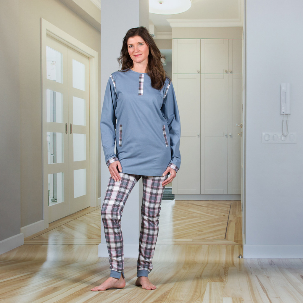 Ladies Designer Jumpsuit with a Zipper-Back and Crotch, Long Legs, and Long Sleeves