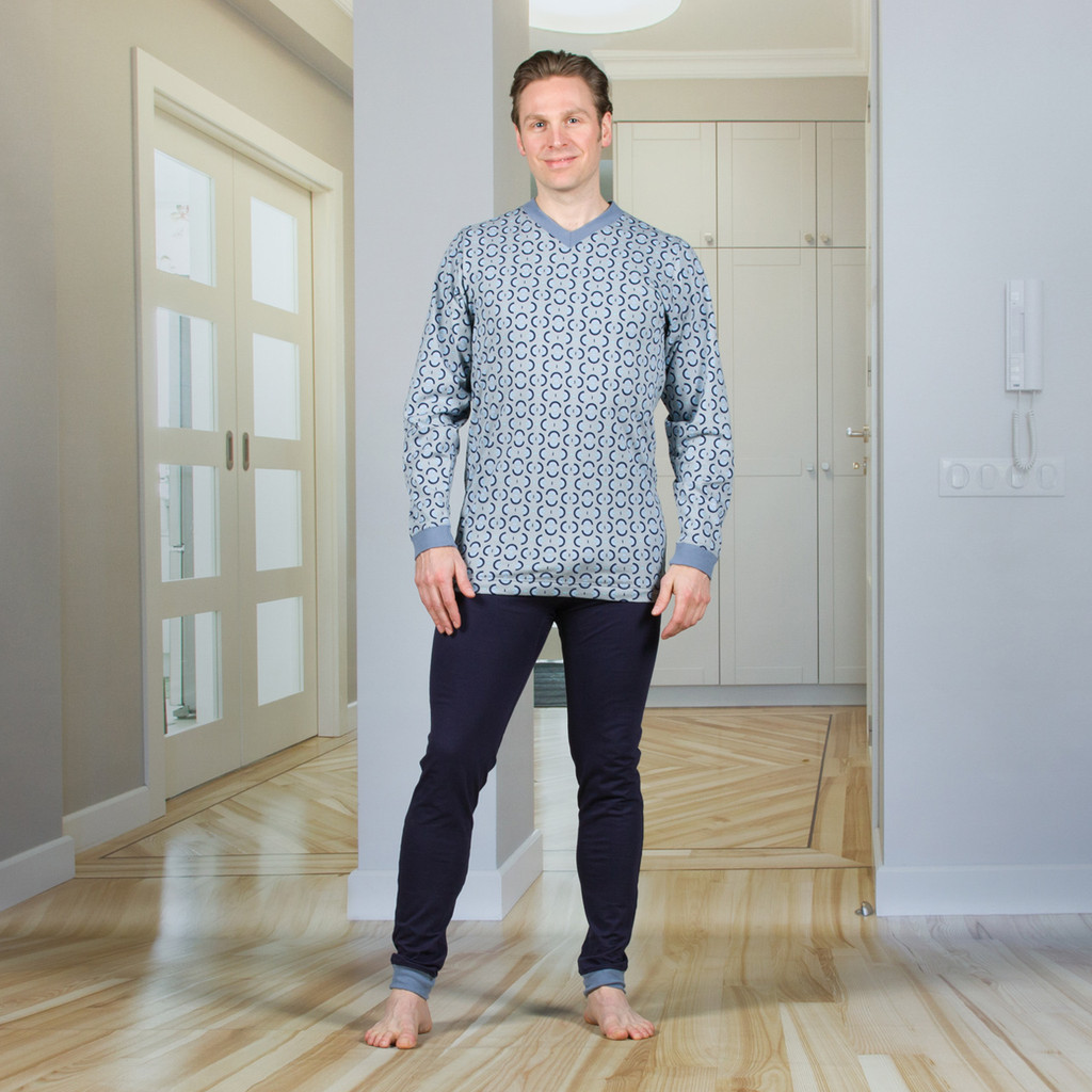 Men's Designer Jumpsuit with a Zipper-Back, Long Legs, and Long Sleeves