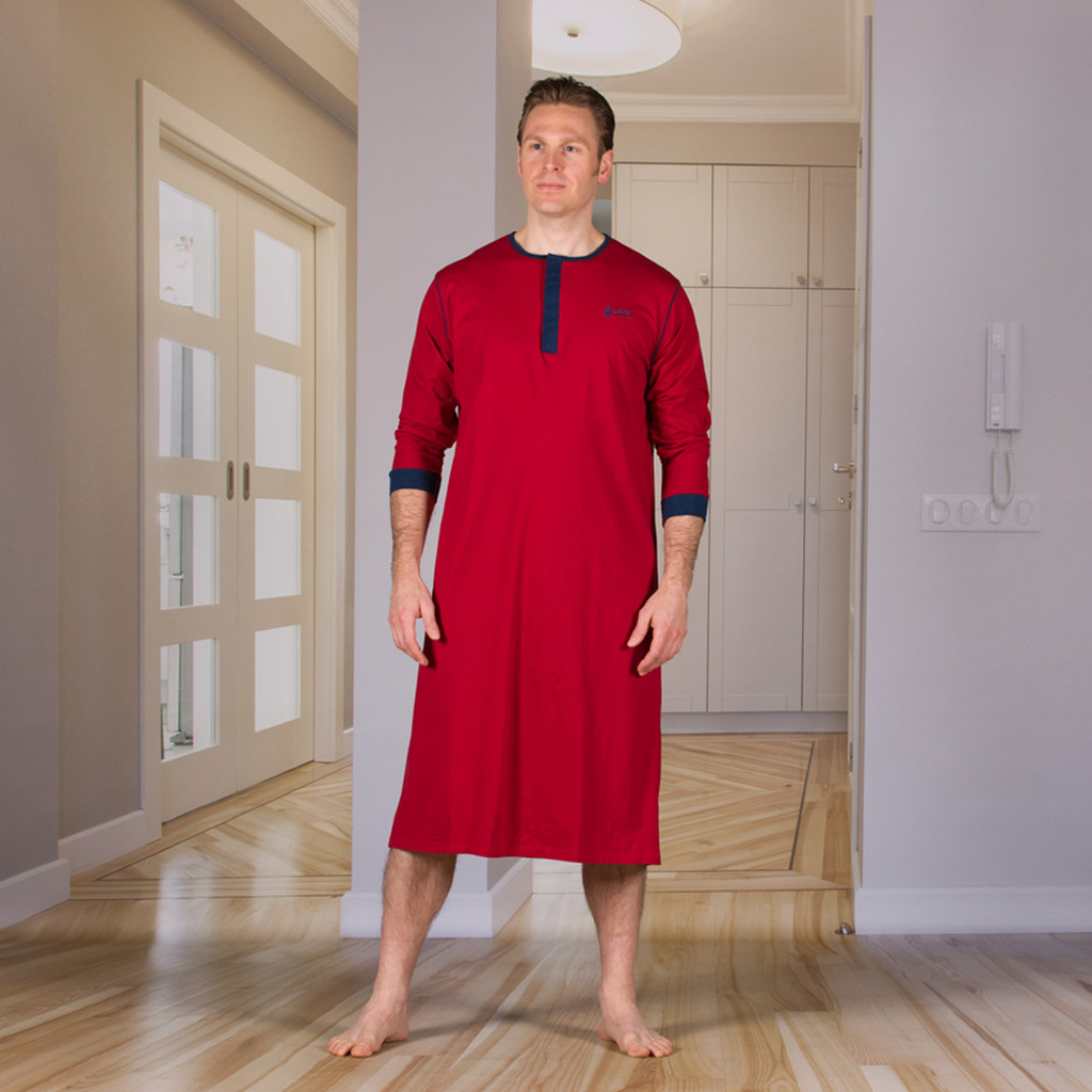 Unisex Nightshirt with an Extra Fold in the Back