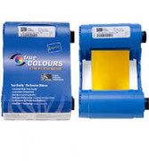 800017-206 Zebra i Series metallic gold monochrome ribbon cartridge for P1xx printers, 1000 images.  Environmentally friendly design