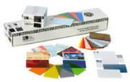 104523-132 Zebra color PVC card - silver metallic, 30 mil (500 cards)