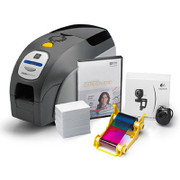Z11-0M00C000US00 Zebra ZXP Series 1 Single-Sided Card Printer, USB, US Cord, CardStudio Software, Webcam, and Mag-Card Media Starter Kit