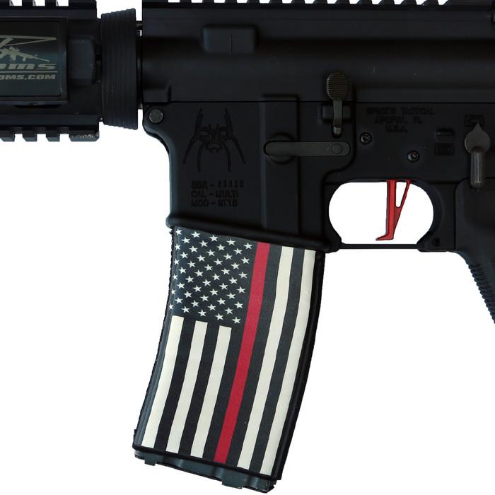 RED LINE US FLAG SOC