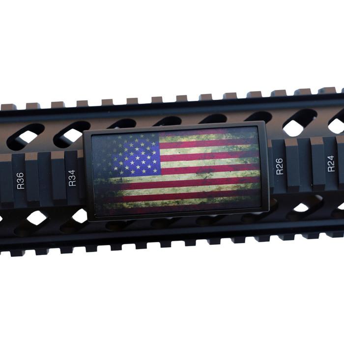 BATTLEWORN US FLAG STARS LEFT RAIL COVER