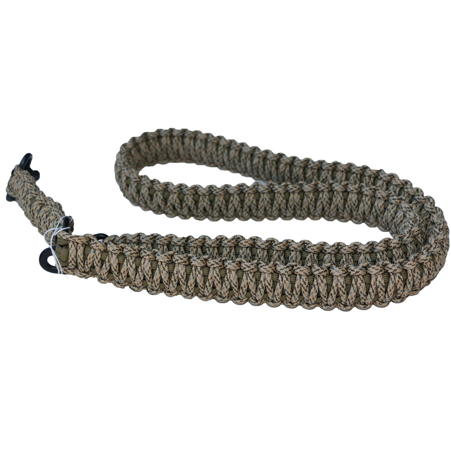 DESERT CAM ON TAN PARACORD RIFLE SLING
