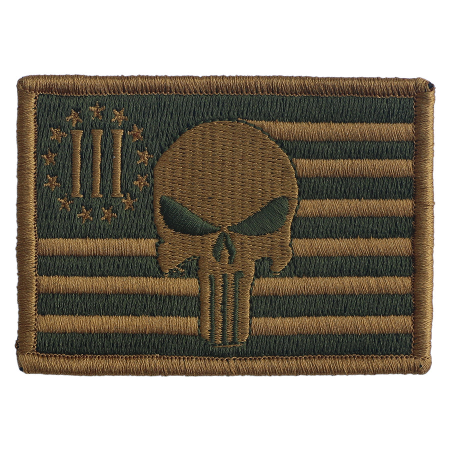 GREEN/ FDE 3% PUNISHER PATCH