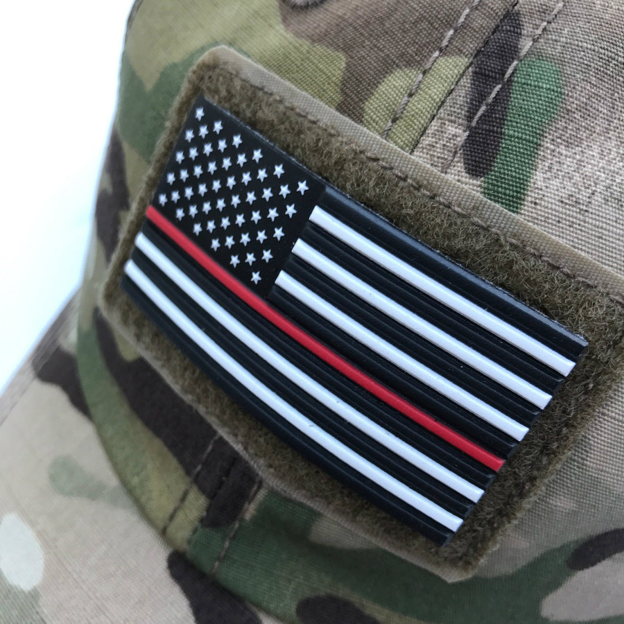 Red Line Flag Patch - Stars Left