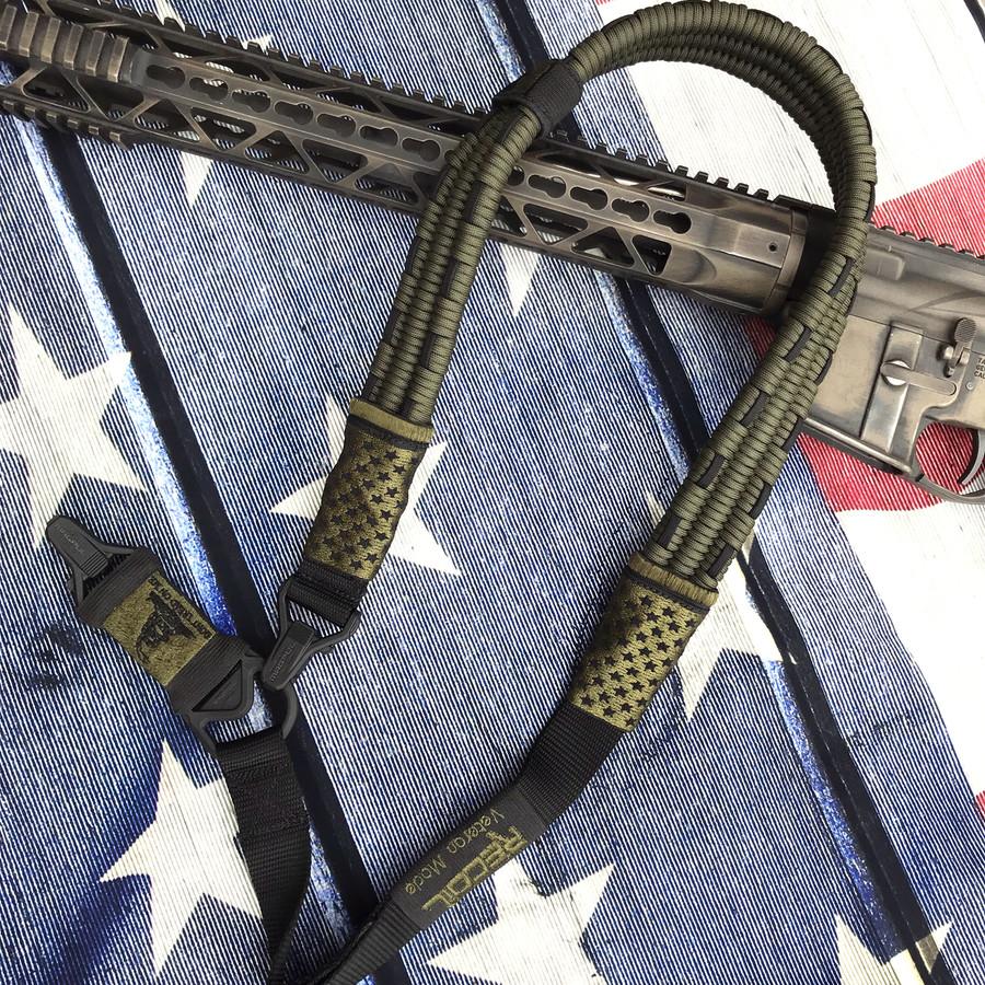 OD GREEN/ BLACK US FLAG SLING