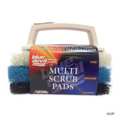 BLUE DEVIL POOL ACCESSORIES | MULTI SCRUB WITH INTERCABLE PAD | TILE SCRUBBER | B8433