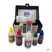 BLUE DEVIL POOL ACCESSORIES | POOL AND SPA BD TEST KIT 6 WAY | BLACK |  CHLORINE | BROMINE | PH | ALKALINITY | CYANURIC ACID | B7550