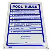 "MAINTENANCE LINE | SIGN POOL RULES | 18""x24"" 