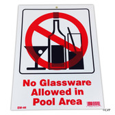 "MAINTENANCE LINE | 9""x12"" NO GLASSWARE ALLOWED 
