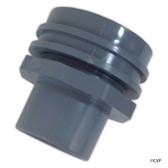 "SUPER PRO | RETURN FITING FLUSH MOUNTT GRAY, WALL RETURN EYE BALL FITTING | (INS 1-1/2"" PVC) 