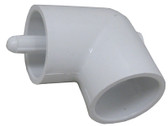 "90 ELBOW, 1 1/2"" SLIP X 1 1/2"" SLIP WITH 1 THERMOWELLS, 5/16"" ID X 4"" LONG 