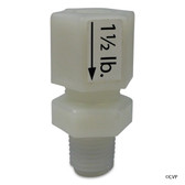 "WATER QUALITY MANAGEMENT | OZONE CHECK VALVE 1-1/2# 1/4""MPT 