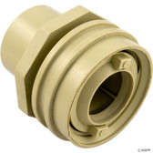 "Waterway Plastics | Eyeball Fitting, WW Flush Mount, 1-1/2""Insider,2-1/4""fd,Bone 