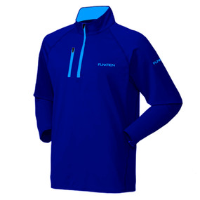 FUNKTION GOLF Thermal Performance Pullover Sweater - Navy / Sky Blue