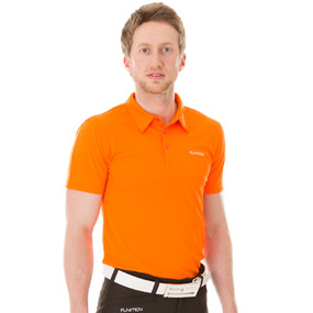 Funktion Golf Mens Short Sleeve Golf Shirt Orange Plain