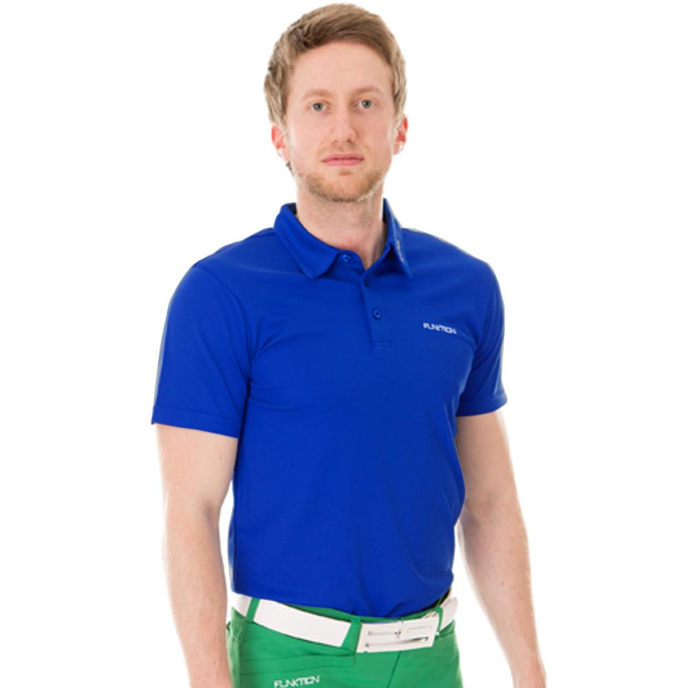 Black Golf Shirt Golf Shirt Electric Blue