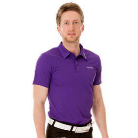 Funktion Golf Mens Short Sleeve Golf Shirt Purple Plain