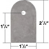 "3/16"" Thick Weld On Flat Tabs, 2.5"" (10 Pack)"