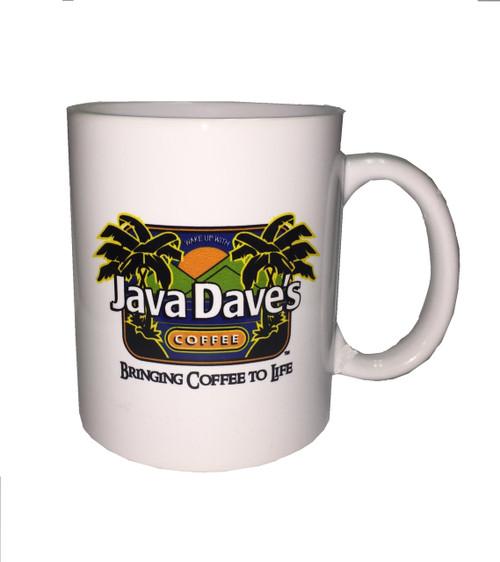 White Ceramic Java Dave's Logo Mug