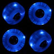 LED Wheel - 54mm Blue (Set of 4)