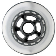 100mm 88a Scooter Wheel Clear/Silver 6 Spoke Hub