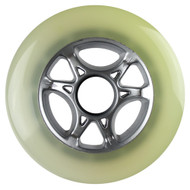 100mm 88a Scooter Wheel Cloudy/Silver 6 Spoke Hub
