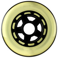100mm 88a Scooter Wheel Clear/Black 5 Spoke Hub