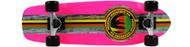 Paradise Cruiser - Barking Rasta - 8 x 26.5 Neon Pink Deck - Clear Grip